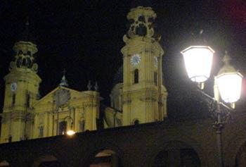 Kirche Nacht Laterne