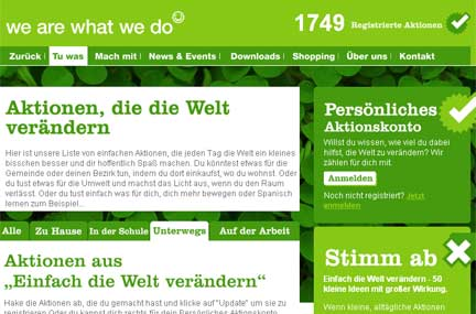We are what we do-Homepage