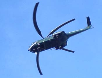 Helikopter optische Täuschung