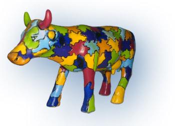 Puzzle-Kuh aus der Cow-Parade
