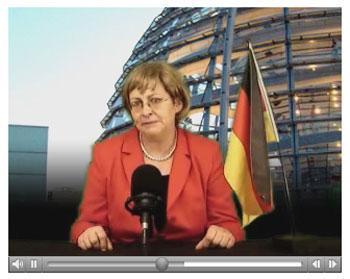 Die echte Merkel spricht zum Volk