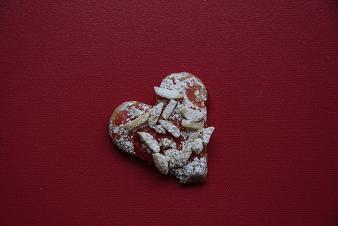 Himbeer-Mandel-Herzen