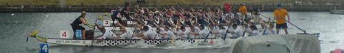 Drachenbootrennen auf dem Alten Strom in Warnemünde