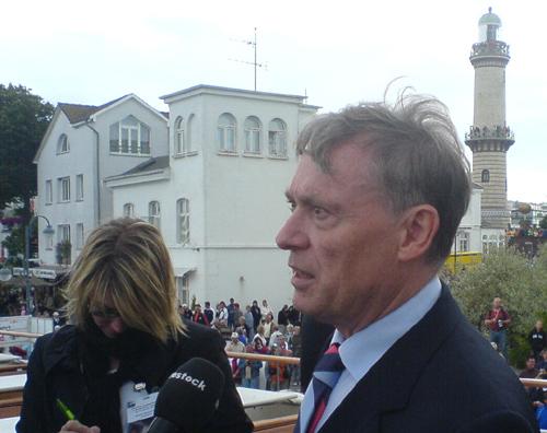 Bundespräsident Horst Köhler in Warnemünde