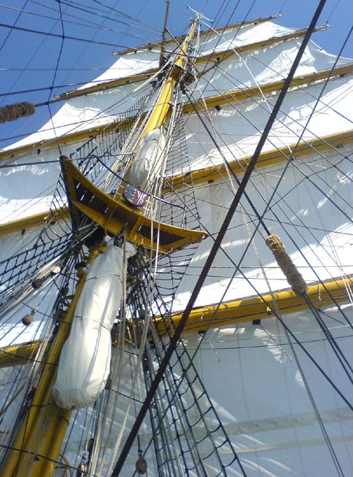 An Bord der Gorch Fock