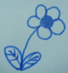 Blaue Blume, hingekritzelt beim Telefonieren vor mir persönlich selbst
