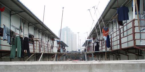 Luxushotel bei Shanghai aus zufällig anderer Perspektive