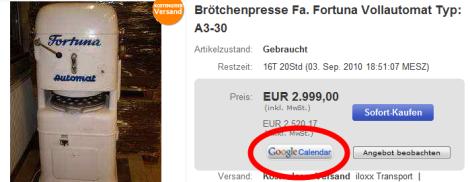 Ebay Calendar