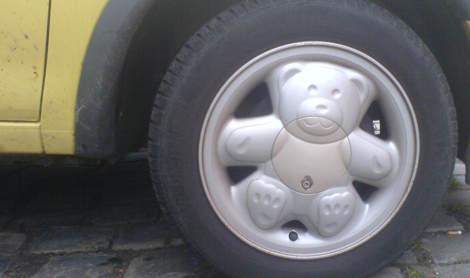 Radkappe mit Bärenmotiv