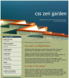 "Screenshot von CSS-Zengarden Template ""Mediterranean"""
