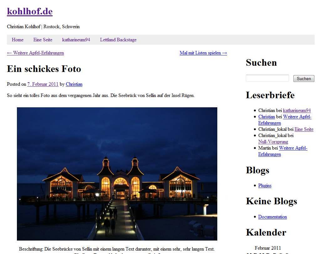"""Screenshot von kohlhof.de mit dem Theme """"Toolbox"""""""