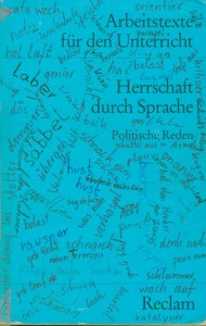 Blaues Reclam-Heft-Cover mit handschriftlichen Ergänzungen