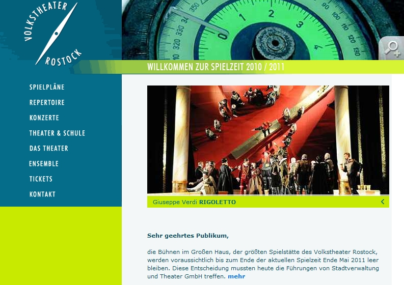 Bildschirmfoto von volkstheater-rostock.de