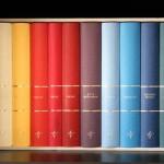 Farbige Buchrücken