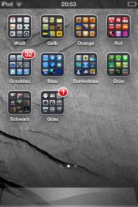 iPhone-Apps, Symbole nach Farben sortiert