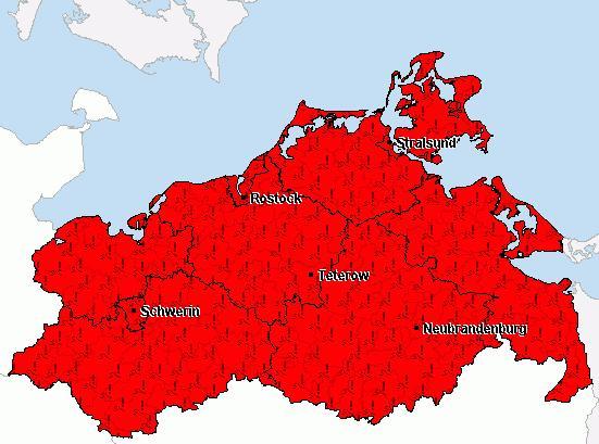 Warnkarte von unwetterzentrale.de