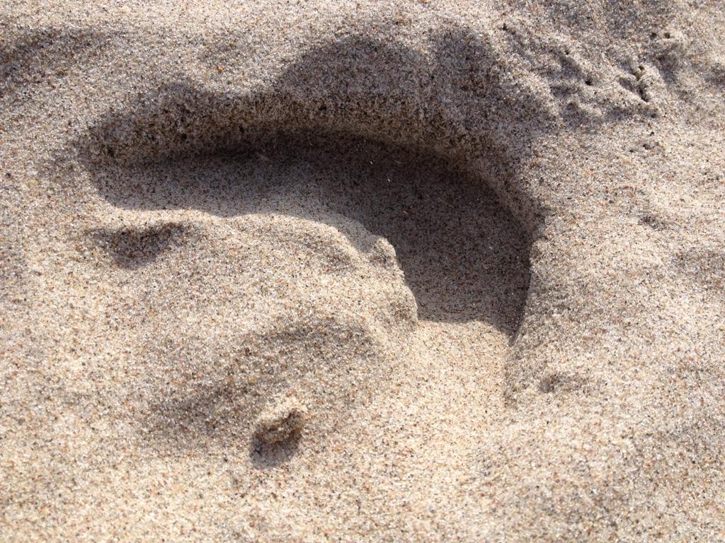 Sandabruck von Pferdehuf