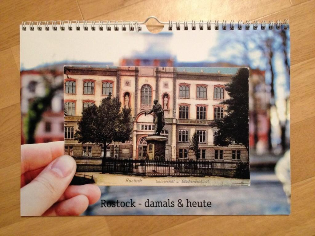 Das Titelblatt des Ut-Rostock-Kalenders: Universität