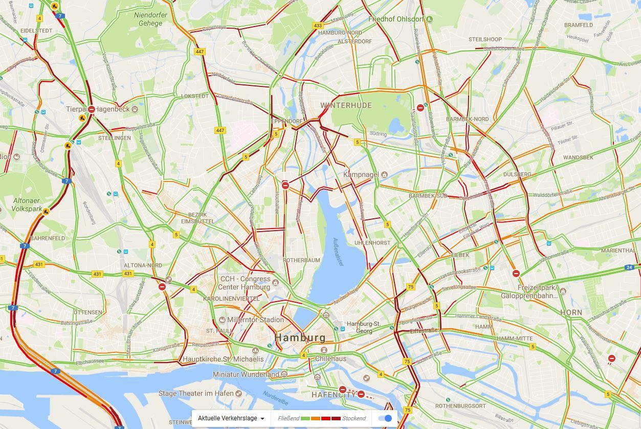 Hamburg Verkehrslage