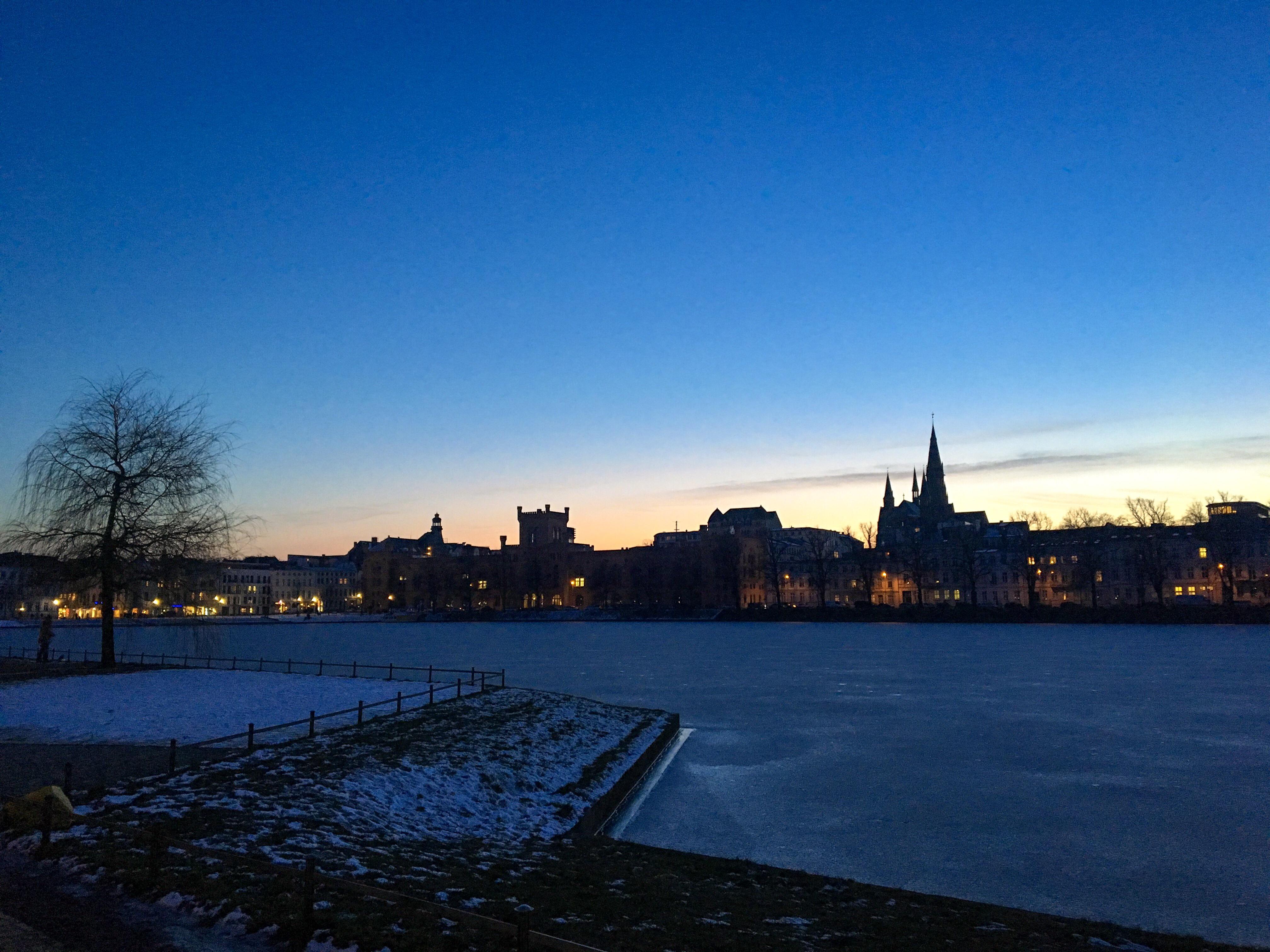 Schwerin Pfaffenteich Winter Eis