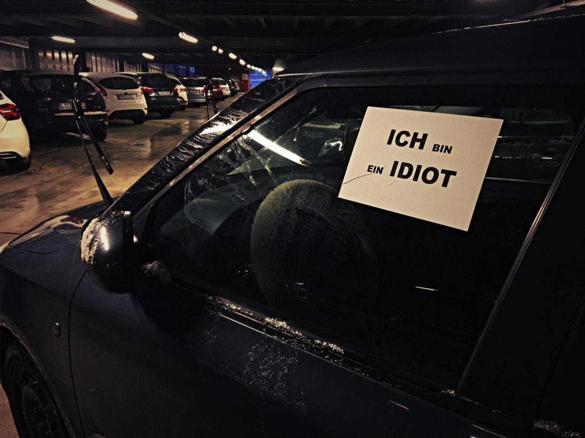 Wenn Du echt nicht gut parken kannst…