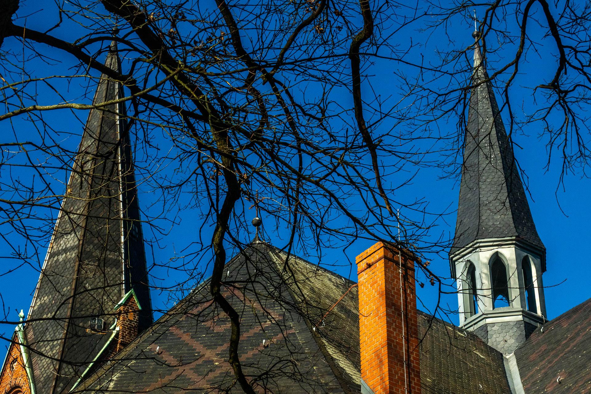 Turm und Dachreiter der Malchower Stadtkirche